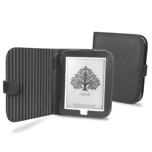 Cover-Up Barnes & Noble Nook GlowLight eReader Cover Case (Book Style) - Black