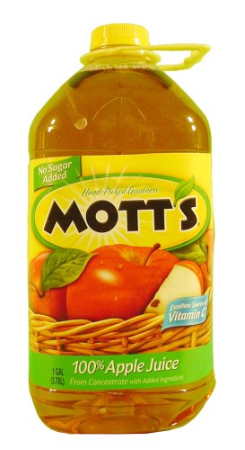 Mott's Apple Juice, 100% Unsweetened Juice From Concentrate, 128 fl oz