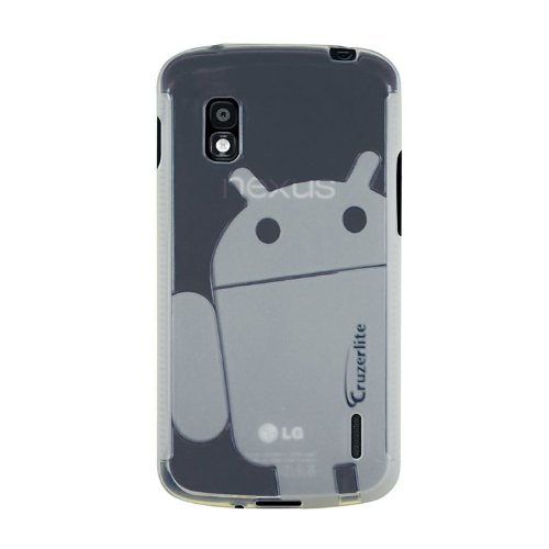 Clear Cruzerlite Androidified A2 TPU Case for LG Nexus 4 (T-Mobile, International Carriers)[Retail Packaging]