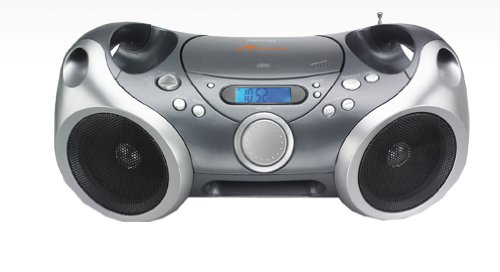 Memorex Sport CD/MP3 portable Boombox with AM/FM Radio and Digital Display/ AUX input