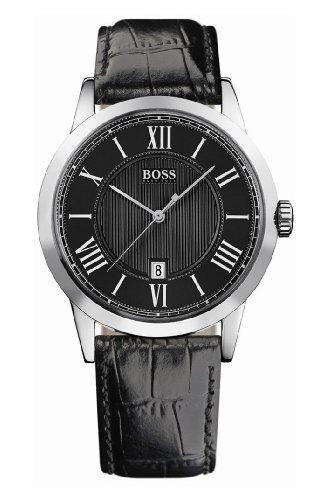 Hugo Boss - 1512429 - Gents Watch - Analogue Quartz - Black Dial - Black Leather Strap