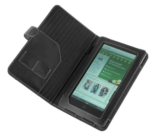Cover-Up Barnes and Noble Nook Color / Nook Tablet Leather Case Book Style - Black