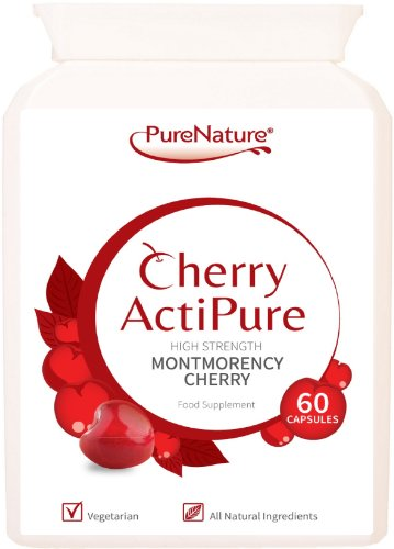Cherry ActiPure 100% Pure Montmorency Cherry 50% Higher Strength for Best Results 60 Capsules |100% Quality Assured Guarantee |FREE UK DELIVERY