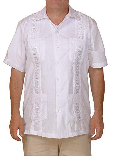 Squish Cuban Style Guayabera Shirt / White