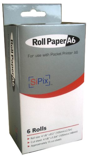 SiPix PS00040 Thermal Paper Roll (A6 Pocket Printer)