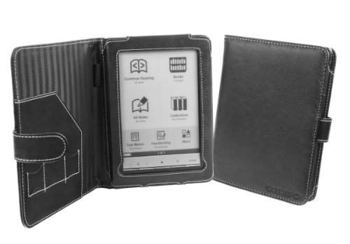 Cover-Up Sony Reader PRS-600 Touch Edition Leather Cover Case (Book Style) - Black