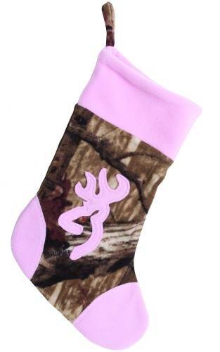 Browning Pink and Camo Christmas Stocking