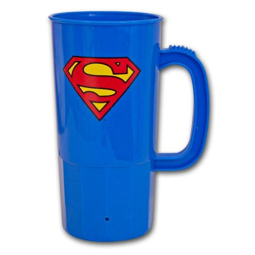 DC Comics Superman Logo 22 oz. Blue Plastic Stein Cup