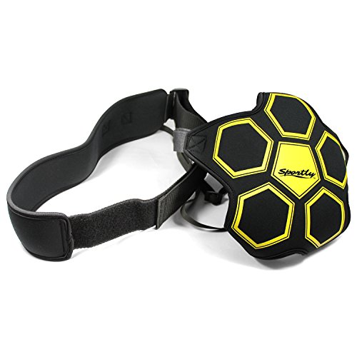 Sportly Solo Soccer Trainer - Adult or Youth Soccer Training Aid, 5 Strap Ball Glove, Adjustable Waist Belt with Stretchable 31.5 Inch Cord, Improves Kicking Skills and Reaction Time