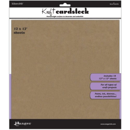 Ranger Inkssentials Kraft Surfaces, 12 by 12-Inch, 10 Per Package