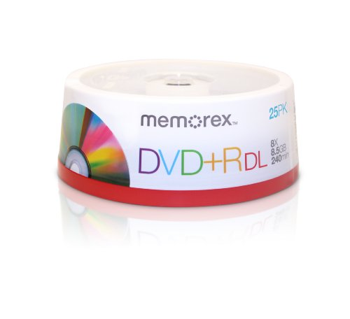 Memorex 8.5GB 8X Double Layer DVD+R 25pk Spindle