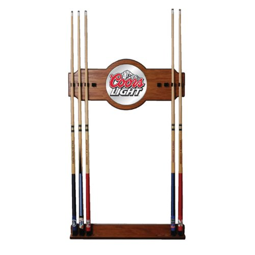 Trademark Global Coors Light 2-Piece Wood and Mirror Wall Cue Rack