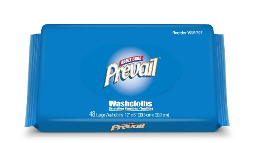 Prevail Washcloths, Large, Refill Pack, 48 Washcloths (Pack of 12)