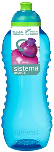 Sistema Twist 'n' Sip Water Bottle - 460 ml, Aqua