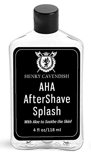 Aftershave Splash with AHA (Alpha Hydroxy Acids). Soothes the skin after shaving! AHA sloughs off dead skin cells leaving your skin refreshed! Unscented. 85% Organic.