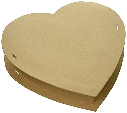 Paper Mache Box-Heart 12