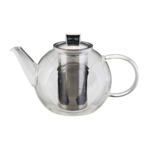 BonJour Glass Teapot Harmony with Flavor Lock Shut Off Infuser 40oz