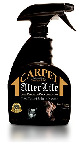 Pet Stain Remover and Odor Eliminator by Carpet Afterlife - Professional Strength Blend of Enzymes and Natural Ingredients to Permanently Remove Dog, Cat, Bird, and Other Odors and Stains from Carpet, Upholstery and Other Surfaces