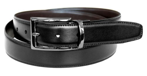 Dockers Men's 30mm Feather Edge Reversible Belt (Regular and Big & Tall Sizes)