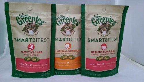 Feline Greenies Smart Bites - Variety Pack Healthy Skin, Hairball Control + Digestive Care
