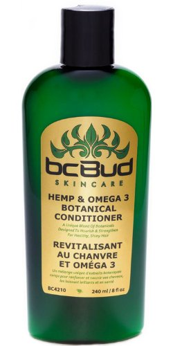 Hemp & Omega 3 Botanical Conditioner, with Natural Protein for Frizzy, Damaged, Dry, Color Treated Hair; For Dry, Itchy Scalp; Repairs Split Ends, Breaking Hair, Overprocessed Hair, Thinning Hair, Volumizing, Silicone Free, 8 Oz