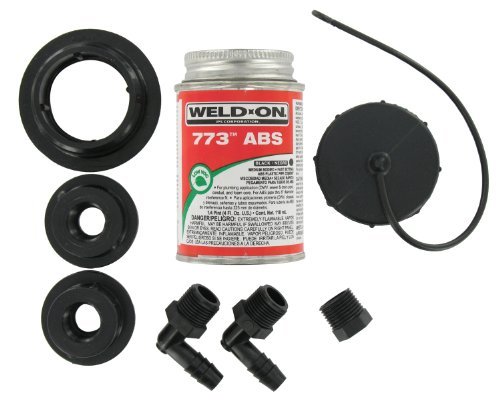 Valterra RK909 ABS Tank Fill Kit with Threaded with Cap and Cement