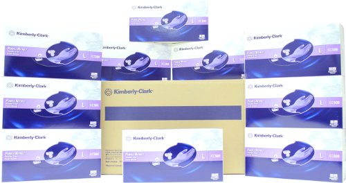 Halyard - Formerly Kimberly Clark Purple Nitrile Exam Gloves SIZE: Large, 100/BX (Case of 10 Boxes)