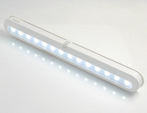 JEBSENS - **Limited Time Offer** Super Bright Under Cabinet Lighting 14 LED - Motion Activated Automatic Light Up, Battery Operated, Cool White
