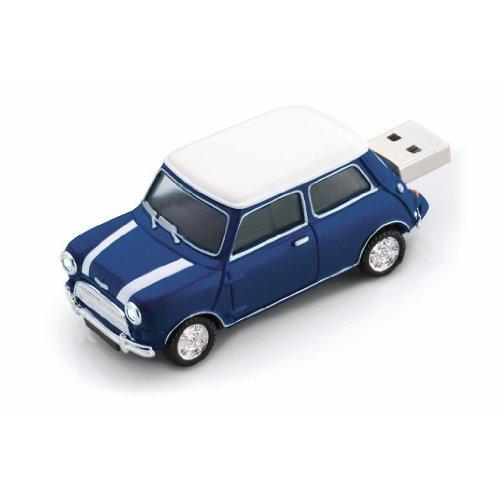 8 GB Mini Cooper Car USB flash pen drive memory stickPen -Blue