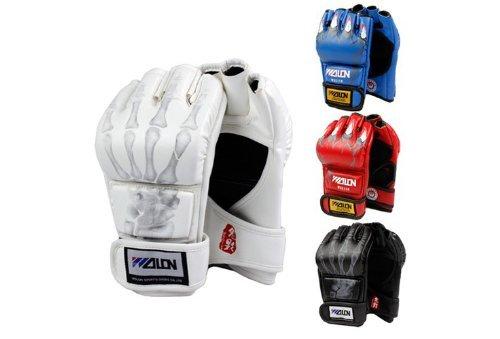OrangeTag Half Finger Boxing Gloves Sanda Fighting Sandbag Gloves MMA UFC (White)