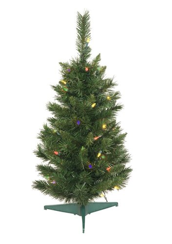 2.5' Pre-Lit Imperial Pine Medium Artificial Christmas Tree - Multi-Color Dura Lights