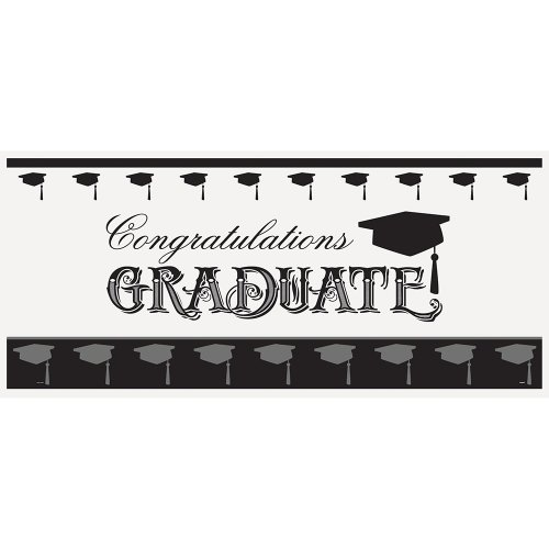 Classic Graduation Wall Banner & Photo Prop, 60 x 27