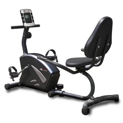 Innova Health and Fitness Deluxe Magnetic Resistance Recumbent Bike with Pulse (50 x 21 x 35-Inch)