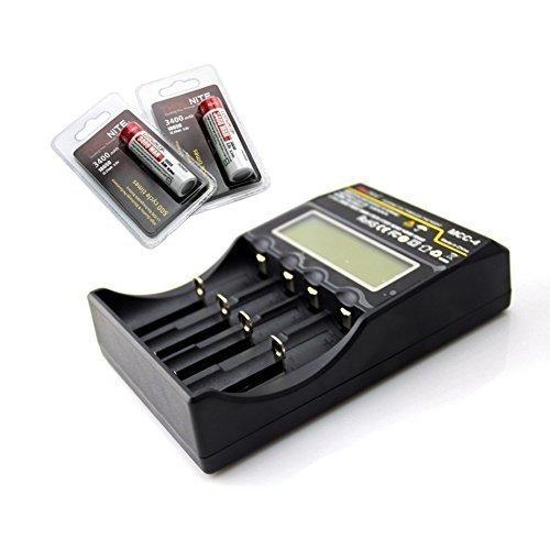 ThruNite Package Deal: ThruNite® MCC Universal Charger + ThruNite® 3400mAh 18650 lithium Batteries (MCC-4*1pcs + 18650-3400mah*2pcs)