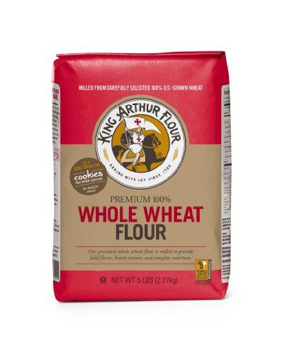 King Arthur Flour Flour Whole Wheat, 5-Pound (Pack of 4)