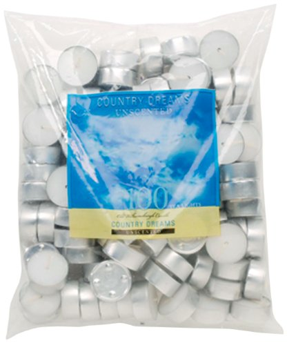 Country Dreams Unscented Tea Lights 100/Pkg-White