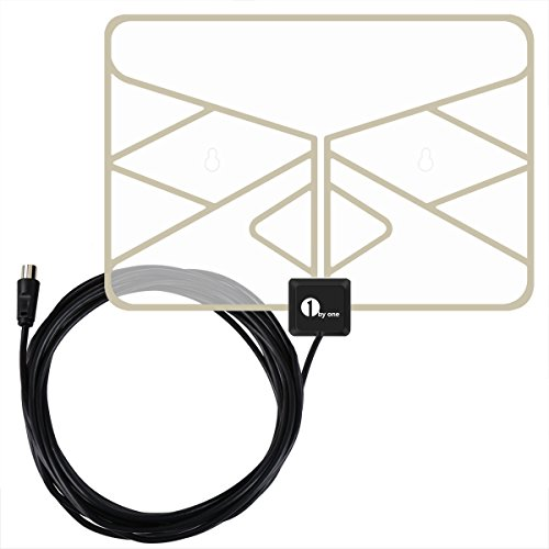 1byone 0.5 mm Paper Thin Transparent Digital TV Aerial, for VHF / UHF / FM, Soft Design, Window Aerial