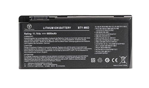 TechOrbits battery BTY-M6D for MSI GT60 GX60 GT70 GT660 GX660 GT680 GX680 GX780 GT780 GT780R GT663R GT660R series laptop