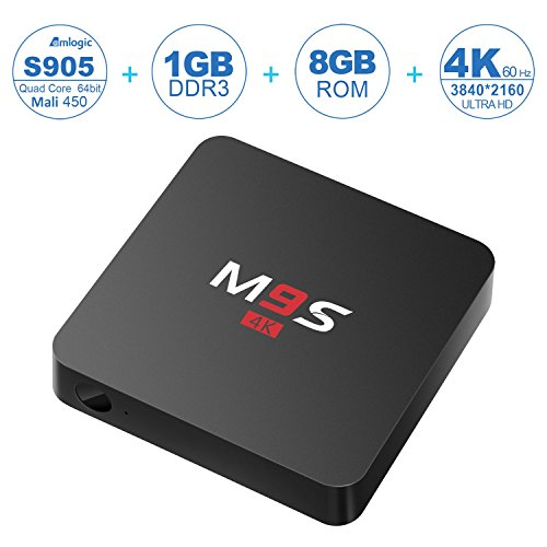 NinkBox M9S 4K Android TV Box Amlogic S905 Chipset Emmc Android 5.1 Lollipop OS Quad Core 1G/8G Google Kodi WiFi HDMI DLNA Fully Loaded Streaming Media Player