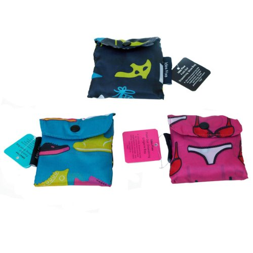 Idee Fixe Drawstring Shoe & Lingerie Bags (set of 3)