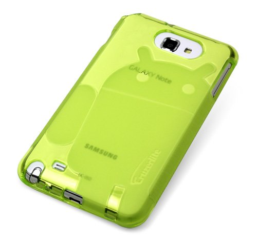 Green - Cruzer Lite Androidified A2 High Gloss TPU Soft Gel Skin Case - For Samsung Galaxy Note [Cruzer Lite Retail Packaging]