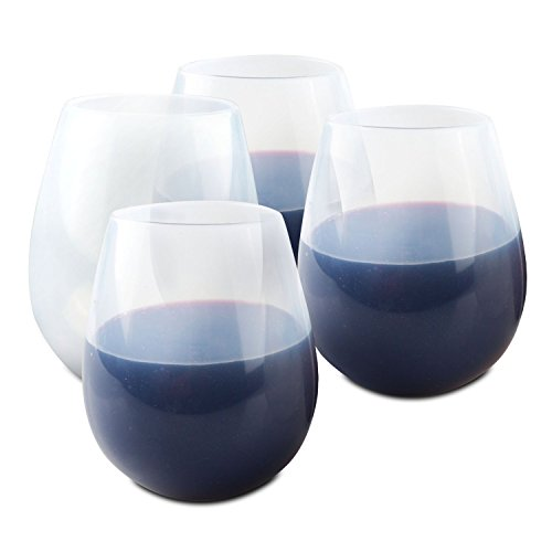 ORBLUE Flexible Silicone Camping Wine Glasses - 16 oz.