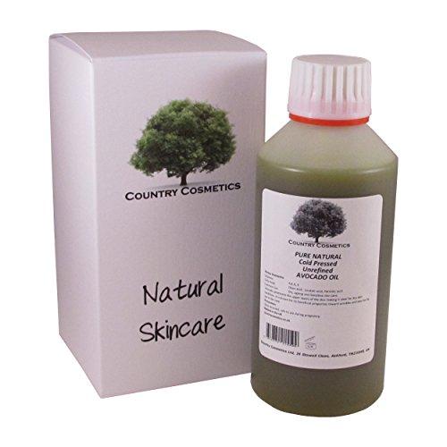 Pure Natural Cold Pressed Unrefined Avocado Oil 250ml incl. Free Pump Dispenser