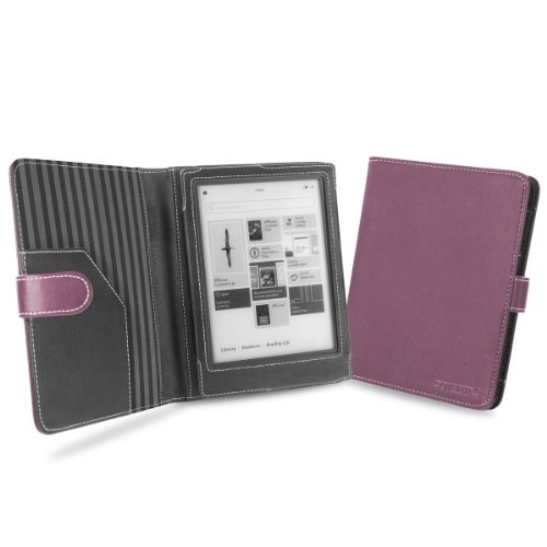 Cover-Up Kobo Aura HD Tablet (6.8) Cover Case With Auto Sleep / Wake Function (Book Style) - Purple