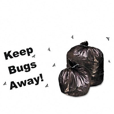 Stout Insect-Repellent Trash Bags with Pest-Guard, 35 Gallons, 2 Milliliters, 33 x 45, Black, 80/Carton (P3345K20)