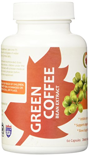 100% Pure Green Coffee Bean Extract Weight Loss Supplement - 60 Capsules 800mg - Vegetarian Capsules - Most Potent With No Artificial Additives - Fully Guaranteed By Maple Holistics