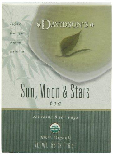Davidson's Tea Sun, Moon & Stars, 8-Count Tea Bags (Pack of 12)