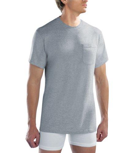 4-pack Fruit of the Loom Men's Grey Pocket Tshirts 4P30LA1 (Medium)