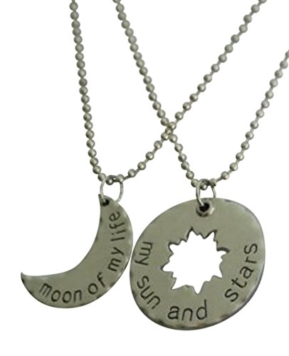Khal/khaleesi Game of Thrones Inspired Couples Necklace - My Sun and Stars, Moon of My Life SET