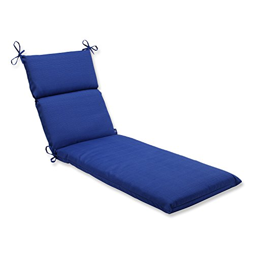 Pillow Perfect Indoor/Outdoor Fresco Chaise Lounge Cushion, Navy